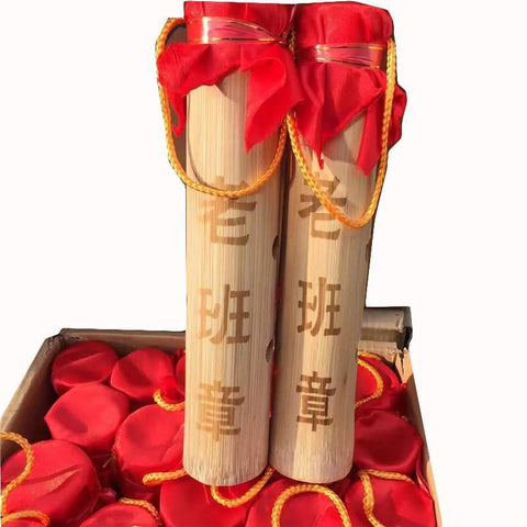 2015yr Laobanzhang Bamboo Package Pressed Puerh Tea Sheng Tea Raw Column Shape Puerh-Moylor