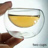High quality Tea Set Exquisite Cup Elegant Cup High Silica Gel Glass Tea Set 300ml/500mlLinglong Cup