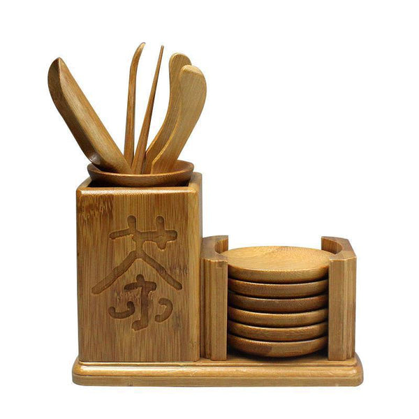 Affordable Exquisite Bamboo Tea Folder Needle Tea Coasters 12pcs Kufung Tea Set-Moylor
