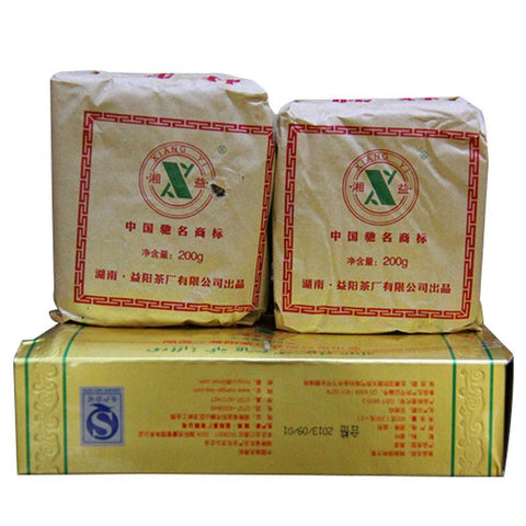 Anhua Dark Tea Xiang Yi Special Fu Brick Side 400 g (2 Pack) Yiyang Tea-Moylor