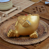 Tea Set Decoration The Golden Toad Feng Shui Ornaments Lucky Mascot Tea Pet