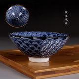Blue and White Porcelain Kung Fu Tea Set Japanese Retro Tea Cups Big Size-Moylor