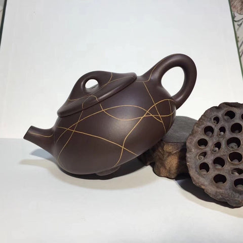 Chenzhihao Handmade 230cc Chenzhihao 100meshes Pure Purple Clay Yixing Clay Teapot Tea Set-Moylor