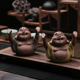 Creative Play Tea Pet Pen holder Purple Clay RuYao Tea Pet Toad Decoration Kung Fu Tea Accessories