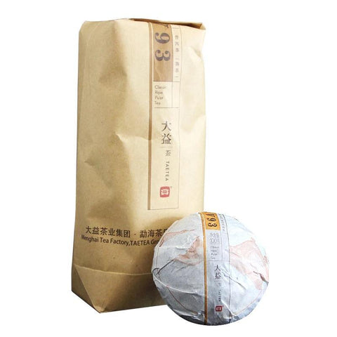 DaYi Tea V93 Pu'er Tuo Tea 2017 Year 1701 Batch of 100 Grams Tea Pu-erh Tea-Moylor