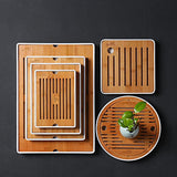 Kung Fu Tea Simple Water Storage Tray Melamine Resin Japanese Round Bamboo Trays Small Tea Table Dry Foam Plate