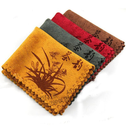 Kungfu Set Tea Tea Towel 4 Color Available Newcoming 30*30CM Tea Towel Ultrastrong Water Absorption Towel-Moylor