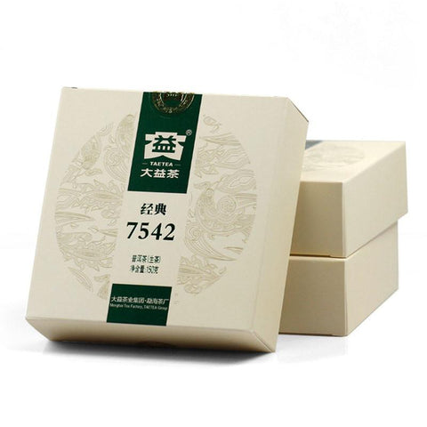 Menghai TAETEA Puerh Tea 2013yr 7542 Classic Series 301 Batch Raw Pu'er Tea 150g-Moylor
