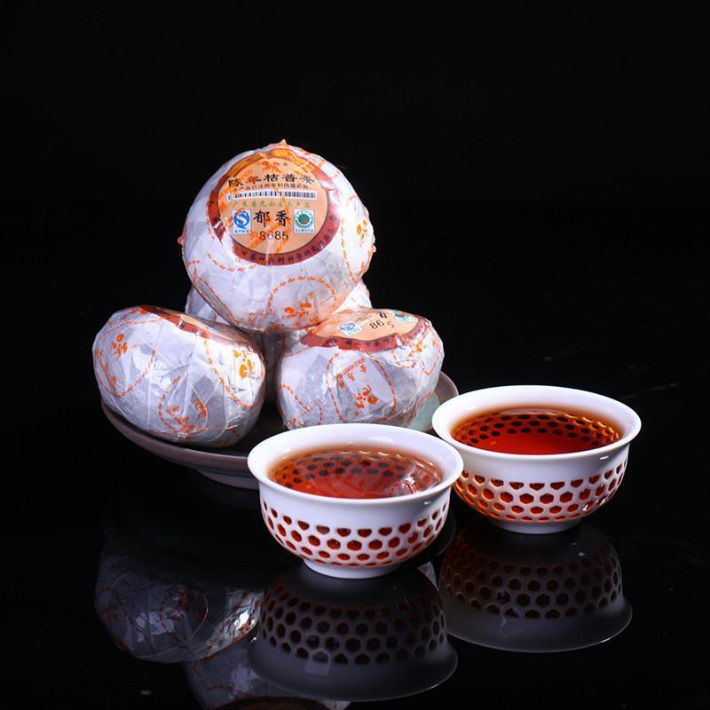 Mini Tuo Puer Orange Pu'er Orange 8685 Pu Erh Tea with Orange Pu Er In Orange Mandarin 5 Pieces/lot