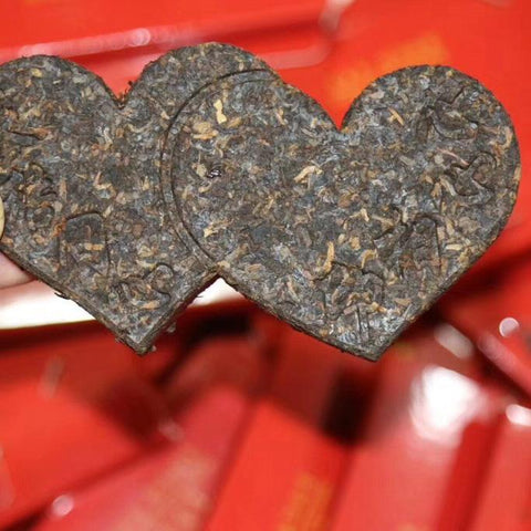 Moylor menghai tea heart shape for wedding tea shu puerh-Moylor