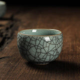 Multi-colors Crack Effect Hand-made China Celadon Tea Cup 1pcs China Kung Fu Ceramic Cup KungFu Tea Set-Moylor