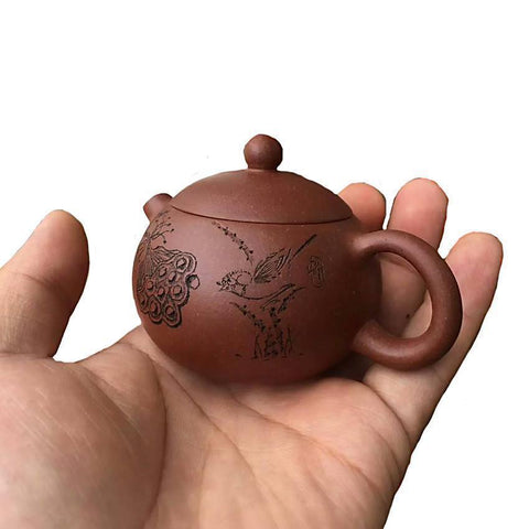 New Fine 80ml/130ml Mini Iron Kettle Cast Iron Teapot Small Pot of Gold Kung Fu Tea Sets Tea Pet Home Decoration Gifts-Moylor