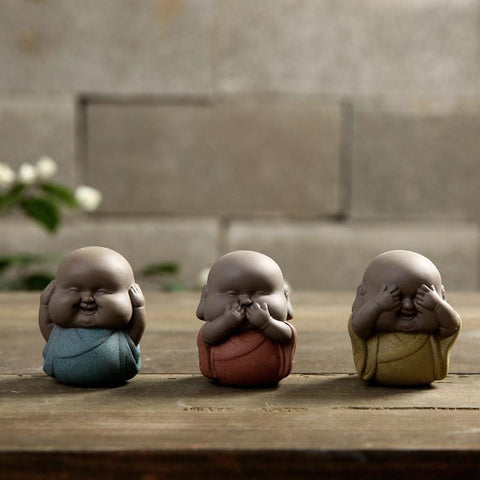 Ornaments Little Monk Boutique Purple Sand Tea Pet Handmade Ceramic Tea Accessories-Moylor