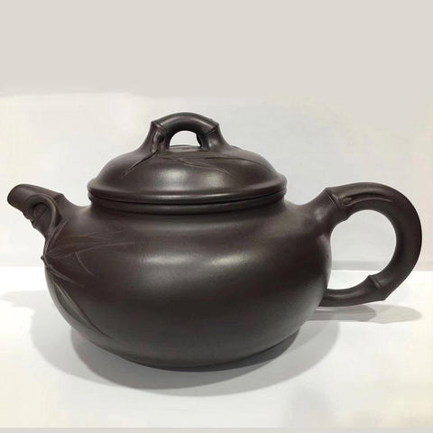 Retro Black Handmade Purple Clay Yixing Teapot-Moylor