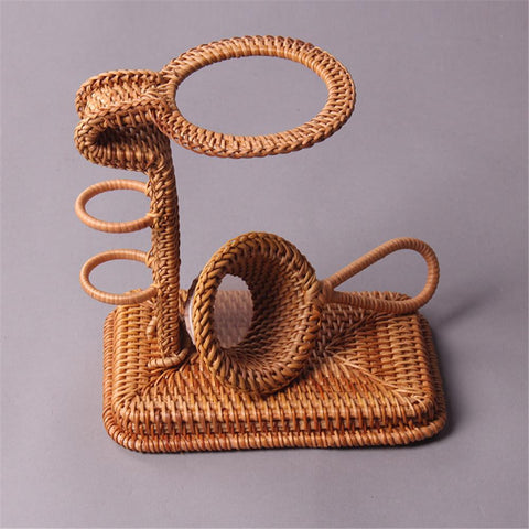 Tea Tray Accessories Kungfu Tea Set Holder Creative Handmade Rattan Tea Filter-Moylor
