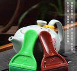 Tea Tray Wiper Plastic Brush Wiper Blade Wiper Brush Emulsion Silicone Cleaning Brush Tea Efficiently Tray-Moylor