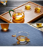 The Fair Cup of Tea Is Divided Into Thick Heat-resistant Glass Tea with Tea Kung Fu Tea set 350ml-Moylor