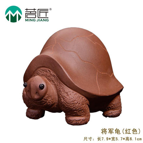 The Quality Manual Purple Turtle Dragons Water Tea Play Nameplates, Artisan Kung Fu Tea Set Tea Pet Set Accessories 1PCS-Moylor