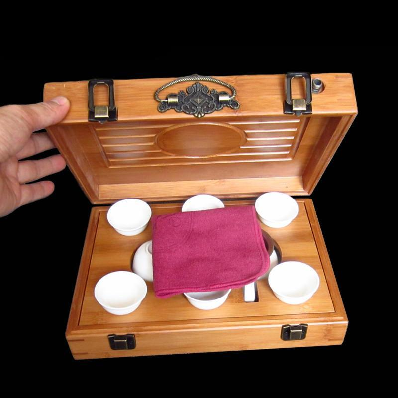 Travel Tea Set Bamboo Tea Tray Portable Outdoor Tourism Vehicle Kung Fu Tea