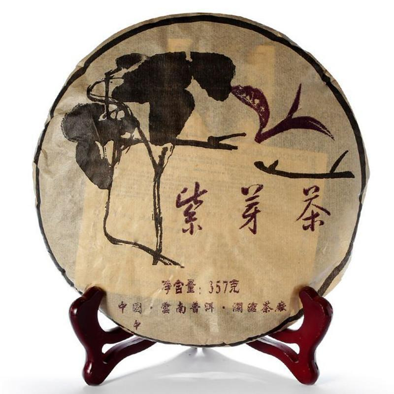 Yunnan 2005 Years ZiYa Raw Puer Tea 357g Jingmai Mountain 502 Wild Purple Bud Pu Er Tea