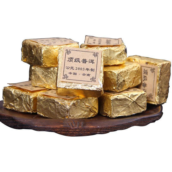 Yunnan Pu'er ripe tea tree top collection 2003yr Mini Tuo small brick cubes tea 20pcs-Moylor