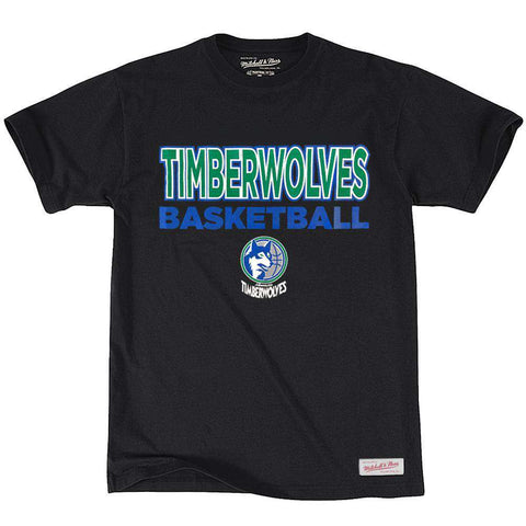Minnesota TImberwolves Mitchell & Ness NBA Pure Shooter T-Shirt - Black