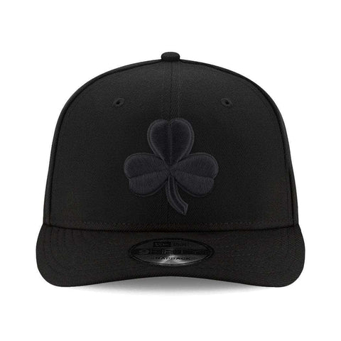 Boston Celtics New Era NBA Alt Black On Black Pre-Curved 9FIFTY Snapback Hat