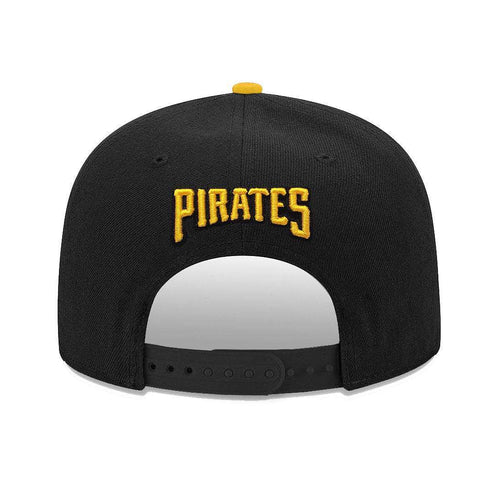 Pittsburgh Pirates New Era MLB Team Pre-Curved 9FIFTY Snapback Hat - Black