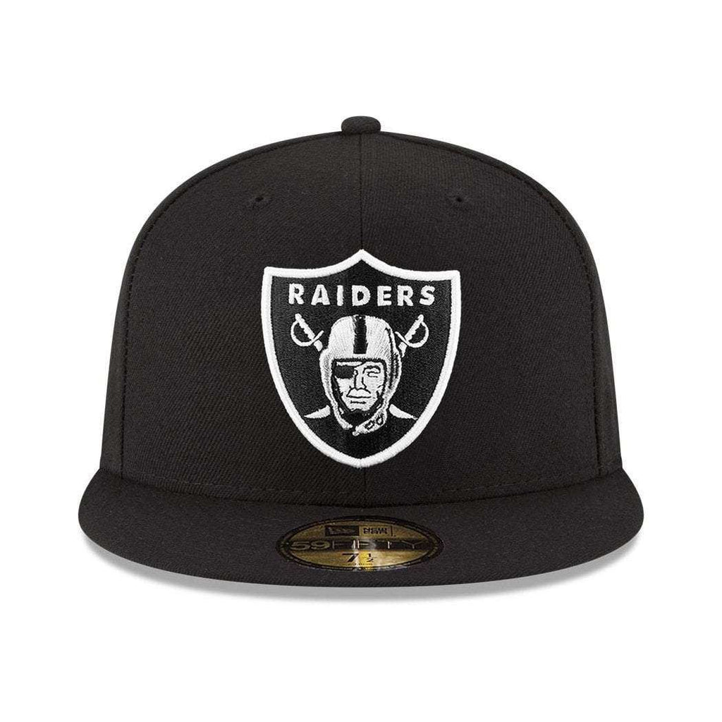 6d687f73c81 Oakland Raiders New Era NFL Team 59FIFTY Fitted Hat - Black