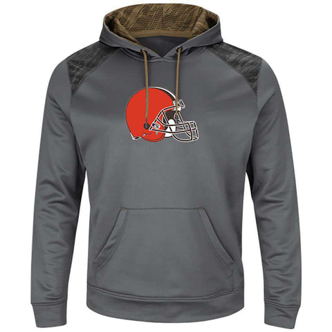 Cleveland Browns Majestic NFL Armor Performance Hoodie Jumper - Grey