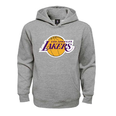 Youths Los Angeles Lakers Outerstuff NBA Primary Logo Hoodie Jumper - Grey