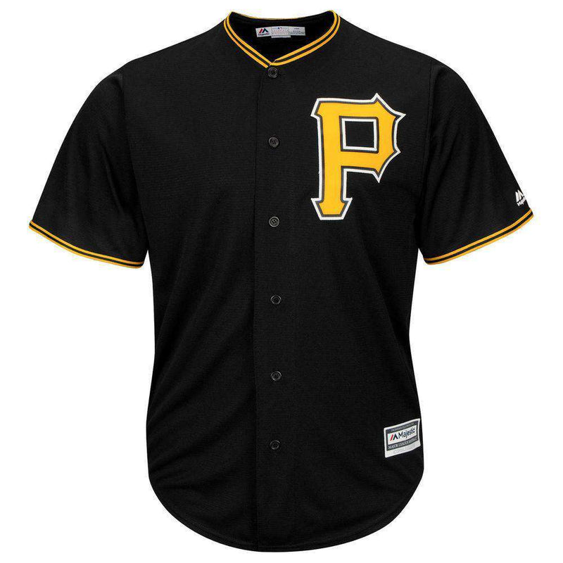 Pittsburgh Pirates Majestic MLB AC Cool Base Replica Jersey - Black