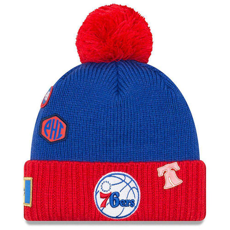 Philadelphia 76ers New Era NBA 2018 NBA Draft Knit Beanie - Blue