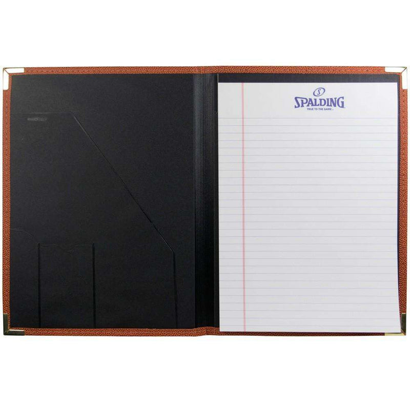 A4 Spalding NBA Logo Basketball Folder w/Notepad - Orange