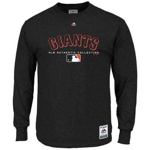 San Francisco Giants Majestic MLB Team Drive Long Sleeve T-Shirt - Black