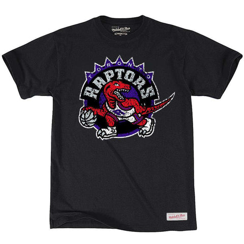 Toronto Raptors Mitchell & Ness NBA Distressed HWC T-Shirt - Black