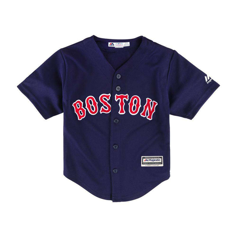 Boys Boston Red Sox Majestic MLB Cool Base Replica Jersey - Navy