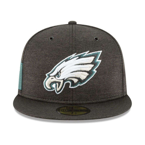 Philadelphia Eagles New Era NFL 2018 Sideline 59FIFTY Fitted Hat - Black