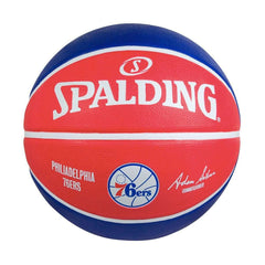 Youths Philadelphia 76ers Spalding NBA Size 6 Outdoor Team Basketball Ball