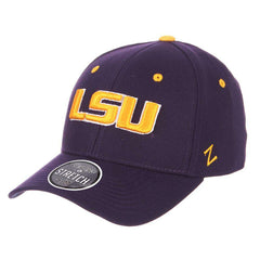 LSU Tigers Zephyr NCAA ZH Team Classic Stretch Fit Curved Hat - Purple