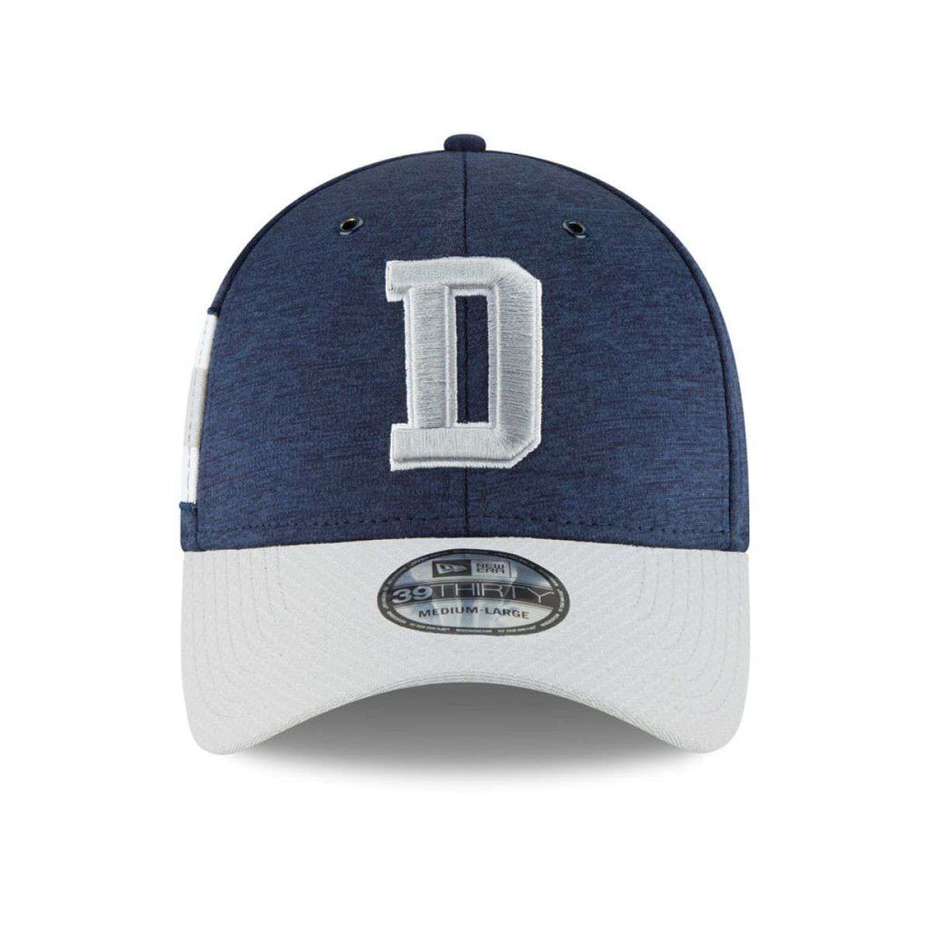 Dallas Cowboys New Era NFL 2018 Sideline 39THIRTY Stretch-Fit Curved Hat -  Navy 3ba6402fac4