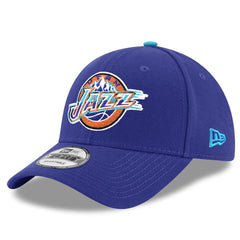 Utah Jazz New Era NBA Hardwood Classics Nights 9FORTY Curved Hat - Purple