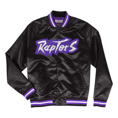Toronto Raptors Mitchell & Ness NBA Lightweight Satin Jacket - Black