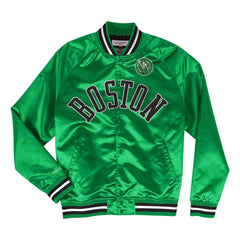 Boston Celtics Mitchell & Ness NBA Lightweight Satin Jacket - Green