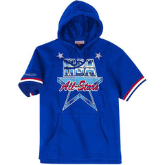 1991 NBA All-Star Game Mitchell & Ness Short Sleeve Hoodie - Blue