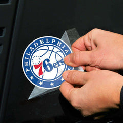 "Philadelphia 76ers Wincraft NBA Perfect Cut 4"" x 4"" Decal"