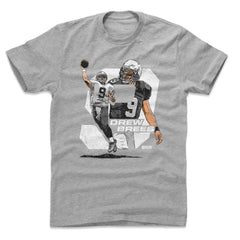 Drew Brees New Orleans Saints 500 Level NFL Number T-Shirt - Grey ... 030f95ce8