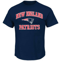 New England Patriots Majestic NFL Heart & Soul T-Shirt - Navy