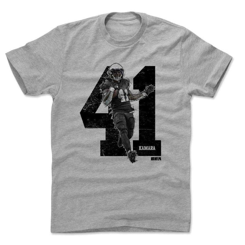 Alvin Kamara New Orleans Saints 500 Level NFL Sketch T-Shirt - Grey