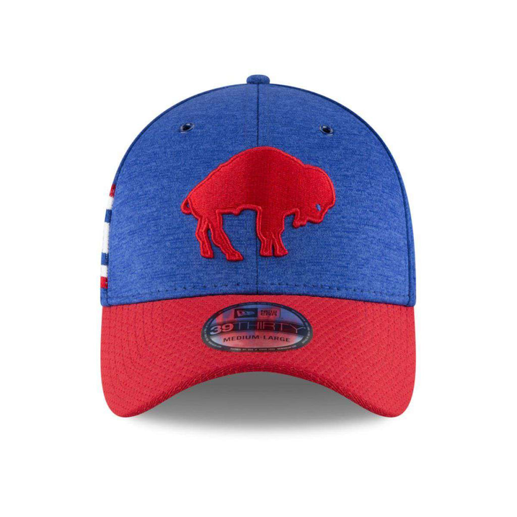 cheap for discount 0a760 e7ab2 Buffalo Bills New Era NFL 2018 Sideline CC 39THIRTY Stretch-Fit Curved Hat  - Blue